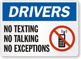 no talking or texting while driving